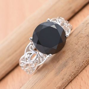 Jewelry - Size 10 Genuine Thai Black Spinel Ring 7.20 Cts
